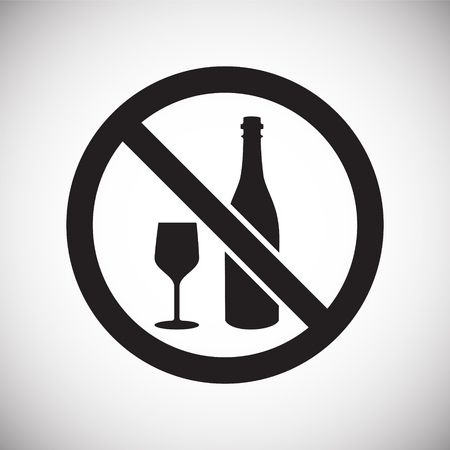 No alcohol allowed sign on white background for graphic and web design, Modern simple vector sign. Internet concept. Trendy symbol for website design web button or mobile app