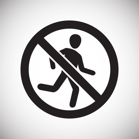 No running allowed sign on white background for graphic and web design, Modern simple vector sign. Internet concept. Trendy symbol for website design web button or mobile app Illustration