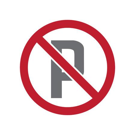 No parking allowed sign on white background for graphic and web design, Modern simple vector sign. Internet concept. Trendy symbol for website design web button or mobile app Illustration