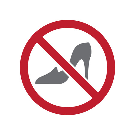 No women allowed sign on white background for graphic and web design, Modern simple vector sign. Internet concept. Trendy symbol for website design web button or mobile app