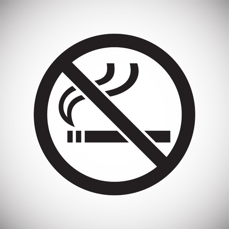 No smoking allowed sign on white background for graphic and web design, Modern simple vector sign. Internet concept. Trendy symbol for website design web button or mobile app