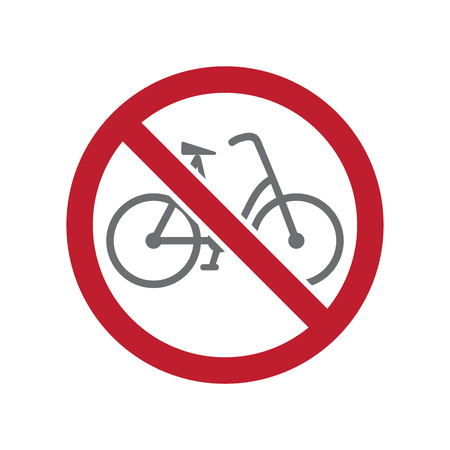 No bicycle allowed sign on white background for graphic and web design, Modern simple vector sign. Internet concept. Trendy symbol for website design web button or mobile app