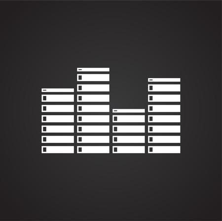 Equalizer icon on black background for graphic and web design, Modern simple vector sign. Internet concept. Trendy symbol for website design web button or mobile app Ilustração