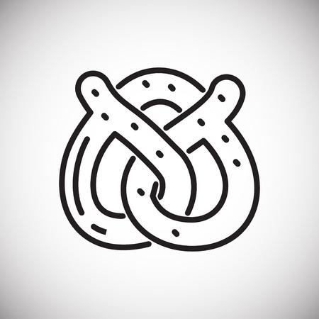 Pretzel outline icon on white background for graphic and web design, Modern simple vector sign. Internet concept. Trendy symbol for website design web button or mobile app Illustration