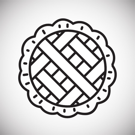 Pie outline icon on white background for graphic and web design, Modern simple vector sign. Internet concept. Trendy symbol for website design web button or mobile app 矢量图像