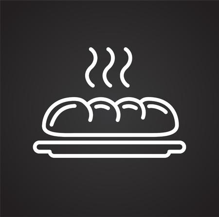 Pastry breakfast outline icon black background for graphic and web design, Modern simple vector sign. Internet concept. Trendy symbol for website design web button or mobile app Reklamní fotografie