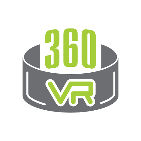 Virtual reality 360 icon on white background for graphic and web design, Modern simple vector sign. Internet concept. Trendy symbol for website design web button or mobile app