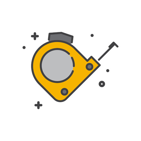 Tool meter line icon on white background for graphic and web design, Modern simple vector sign. Internet concept. Trendy symbol for website design web button or mobile app