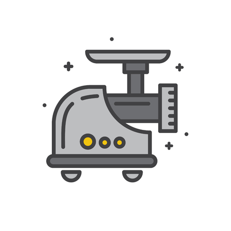 Meat grinder line icon on white background for graphic and web design, Modern simple vector sign. Internet concept. Trendy symbol for website design web button or mobile app