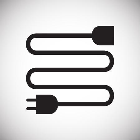 Icono de vajilla eléctrica sobre fondo blanco para diseño gráfico y web sencillo, moderno, signo de vectores. Concepto de internet. Símbolo de moda para el botón web de diseño de sitios web o aplicaciones móviles