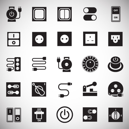 Electric ware icons set on white background for graphic and web design, Modern simple vector sign. Internet concept. Trendy symbol for website design web button or mobile app