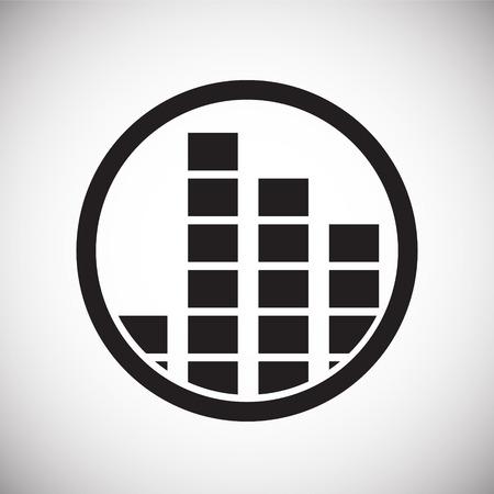 Icône d'égaliseur sur fond blanc pour la conception graphique et web, simple signe vecteur moderne. Notion Internet. Symbole à la mode pour le bouton Web de conception de site Web ou l'application mobile