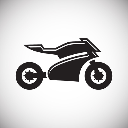 Motorcycle sport icon on white background for graphic and web design, Modern simple vector sign. Internet concept. Trendy symbol for website design web button or mobile app Ilustrace
