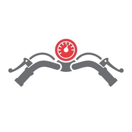 Motorrad-Bar-Symbol auf weißem Hintergrund für Grafik- und Webdesign, modernes einfaches Vektorzeichen. Internet-Konzept. Trendiges Symbol für Website-Design-Web-Button oder mobile App