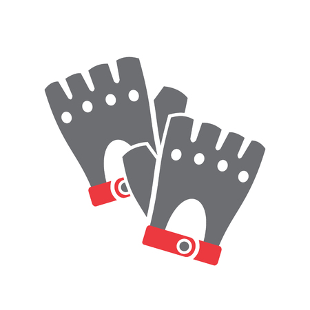 Motorcycle gloves icon on white background for graphic and web design, Modern simple vector sign. Internet concept. Trendy symbol for website design web button or mobile app Stock Photo