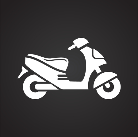 Scooter icon on black background for graphic and web design, Modern simple vector sign. Internet concept. Trendy symbol for website design web button or mobile app