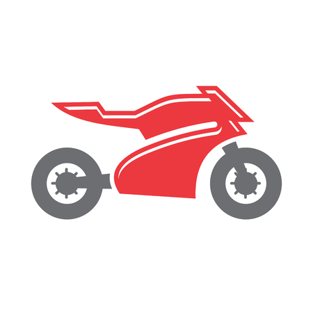 Motorcycle sport icon on white background for graphic and web design, Modern simple vector sign. Internet concept. Trendy symbol for website design web button or mobile app Vettoriali