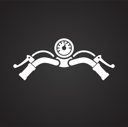 Motorcycle bar icon on black background for graphic and web design, Modern simple vector sign. Internet concept. Trendy symbol for website design web button or mobile app