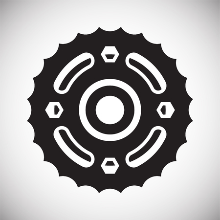 Motorcycle cogwheel icon on white background for graphic and web design, Modern simple vector sign. Internet concept. Trendy symbol for website design web button or mobile app
