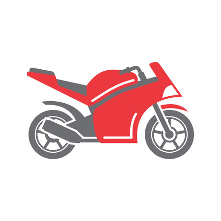 Motorcycle sport icon on white background for graphic and web design, Modern simple vector sign. Internet concept. Trendy symbol for website design web button or mobile app Illustration