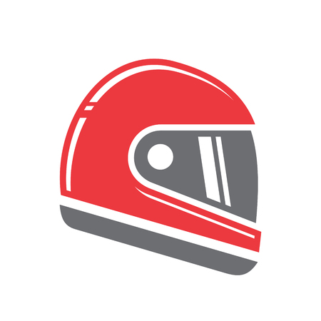 Motorcycle helmet icon on white background for graphic and web design, Modern simple vector sign. Internet concept. Trendy symbol for website design web button or mobile app Illustration