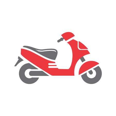 Scooter icon on white background for graphic and web design, Modern simple vector sign. Internet concept. Trendy symbol for website design web button or mobile app