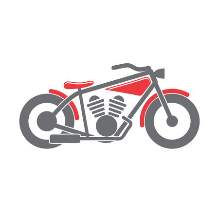 Classic Motorcycle icon on white background for graphic and web design, Modern simple vector sign. Internet concept. Trendy symbol for website design web button or mobile app Stock Photo