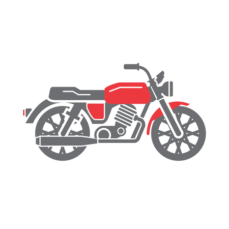 Classic Motorcycle icon on white background for graphic and web design, Modern simple vector sign. Internet concept. Trendy symbol for website design web button or mobile app Иллюстрация