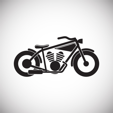 Classic Motorcycle icon on white background for graphic and web design, Modern simple vector sign. Internet concept. Trendy symbol for website design web button or mobile app Vettoriali