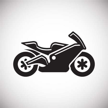 Motorcycle sport icon on white background for graphic and web design, Modern simple vector sign. Internet concept. Trendy symbol for website design web button or mobile app Иллюстрация