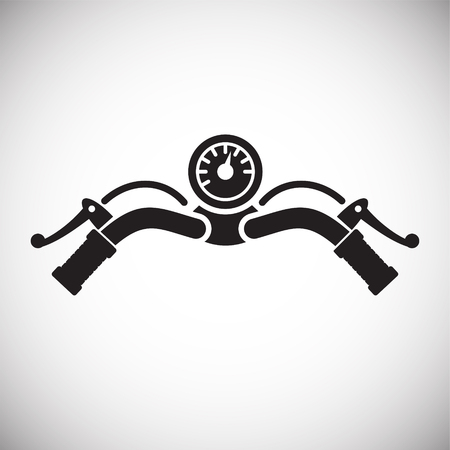 Motorrad-Bar-Symbol auf weißem Hintergrund für Grafik- und Webdesign, modernes einfaches Vektorzeichen. Internet-Konzept. Trendiges Symbol für Website-Design-Web-Button oder mobile App Vektorgrafik