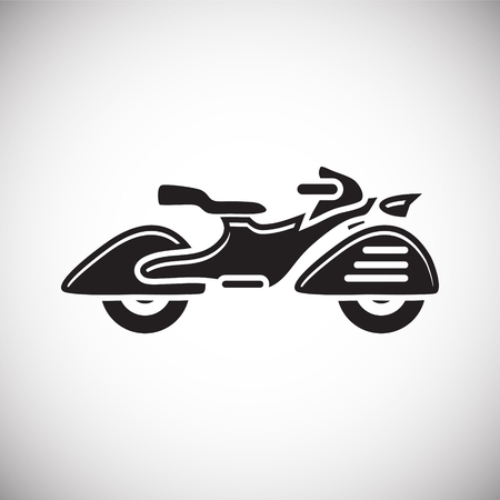 Classic Motorcycle icon on white background for graphic and web design, Modern simple vector sign. Internet concept. Trendy symbol for website design web button or mobile app Illustration