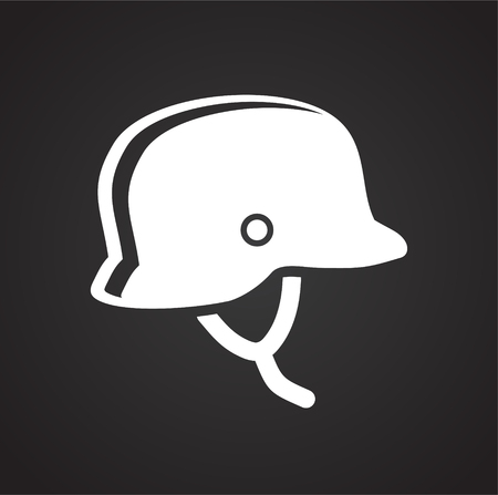 Motorcycle helmet icon on black background for graphic and web design, Modern simple vector sign. Internet concept. Trendy symbol for website design web button or mobile app