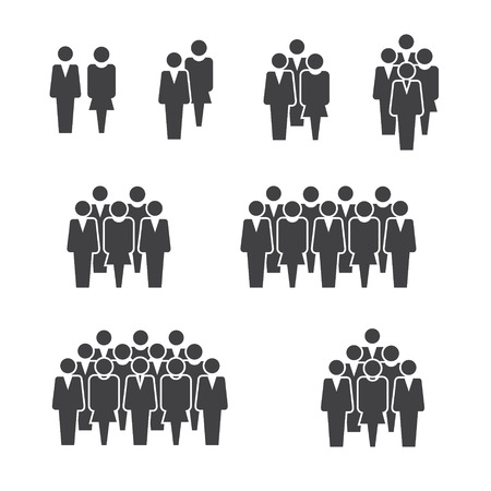 People staff crowd group icon on white background for graphic and web design, Modern simple vector sign. Internet concept. Trendy symbol for website design web button or mobile app