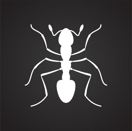 Pest icon on black background for graphic and web design, Modern simple vector sign. Internet concept. Trendy symbol for website design web button or mobile app Illustration