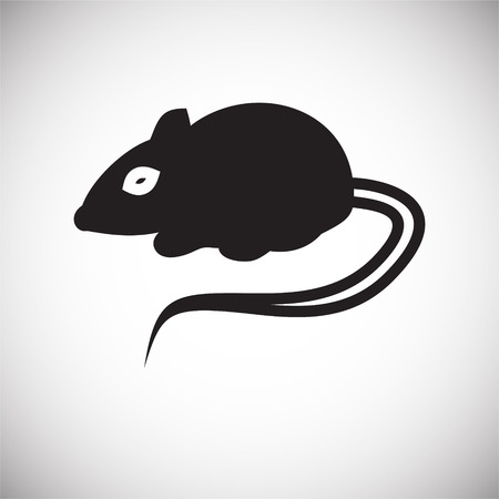 Rat icon on white background for graphic and web design, Modern simple vector sign. Internet concept. Trendy symbol for website design web button or mobile app
