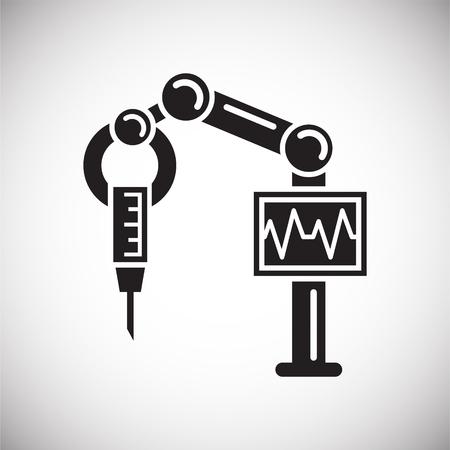 Icône de chirurgie future sur fond blanc pour la conception graphique et web, simple signe vecteur moderne. Notion Internet. Symbole à la mode pour le bouton Web de conception de site Web ou l'application mobile