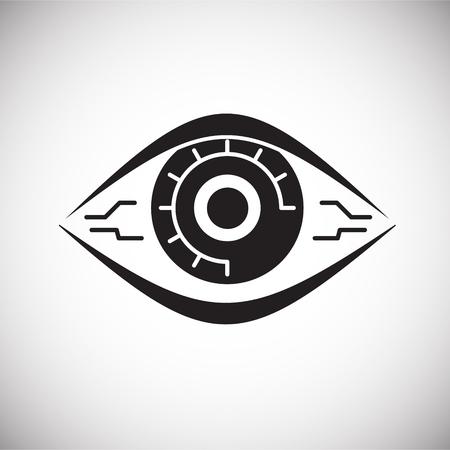 Vision check up icona su sfondo bianco per grafica e web design, moderno vettore semplice segno. Concetto di Internet. Simbolo alla moda per il pulsante web di progettazione di siti Web o l'app mobile