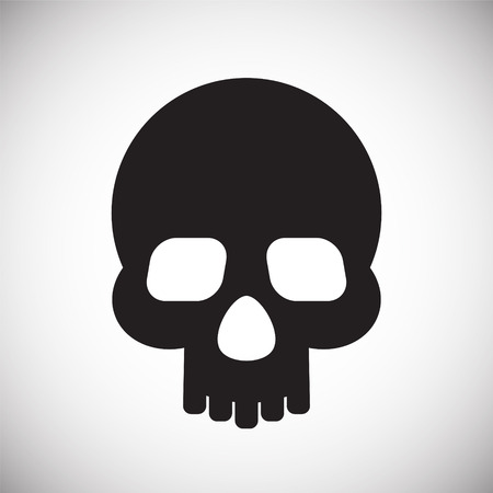 Skull icon on white background for graphic and web design, Modern simple vector sign. Internet concept. Trendy symbol for website design web button or mobile app