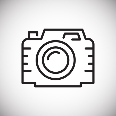 Camera line icon on white background for graphic and web design, Modern simple vector sign. Internet concept. Trendy symbol for website design web button or mobile app