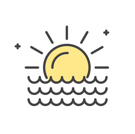 Summer line icon on white background for graphic and web design, Modern simple vector sign. Internet concept. Trendy symbol for website design web button or mobile app