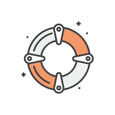 Life buoy line icon on white background for graphic and web design, Modern simple vector sign. Internet concept. Trendy symbol for website design web button or mobile app