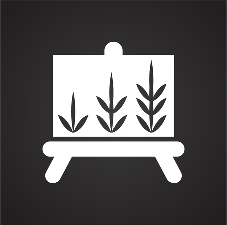 Grow icon on black background for graphic and web design, Modern simple vector sign. Internet concept. Trendy symbol for website design web button or mobile app Иллюстрация