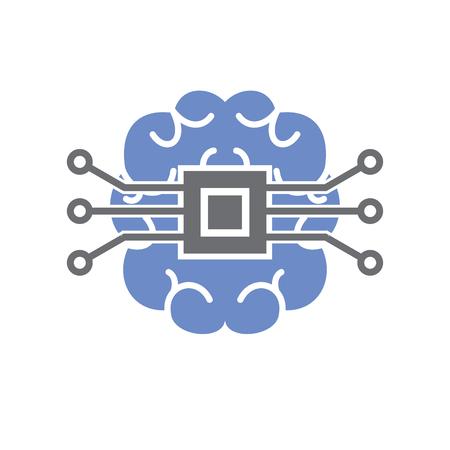 Cervello cloud storage icona su sfondo bianco per grafica e web design, moderno vettore semplice segno. Concetto di Internet. Simbolo alla moda per il pulsante web di progettazione di siti Web o l'app mobile Vettoriali