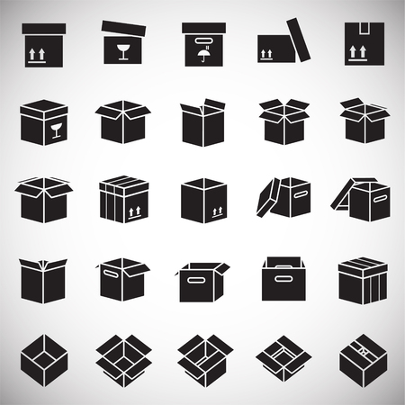 Box icons set on white background for graphic and web design, Modern simple vector sign. Internet concept. Trendy symbol for website design web button or mobile app