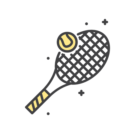 Tennis line icon on white background for graphic and web design, Modern simple vector sign. Internet concept. Trendy symbol for website design web button or mobile app