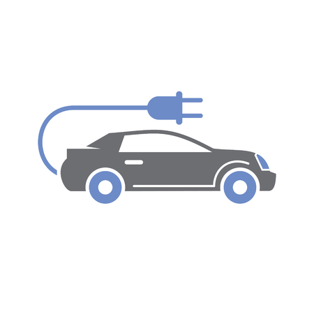 Electric car icon on white background for graphic and web design, Modern simple vector sign. Internet concept. Trendy symbol for website design web button or mobile app Reklamní fotografie - 124996209