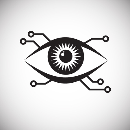 Eye scanner icon on white background for graphic and web design, Modern simple vector sign. Internet concept. Trendy symbol for website design web button or mobile app Banco de Imagens - 124996214