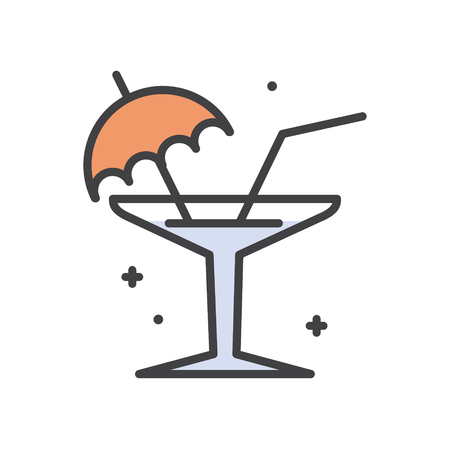 Cocktail line icon on white background for graphic and web design, Modern simple vector sign. Internet concept. Trendy symbol for website design web button or mobile app