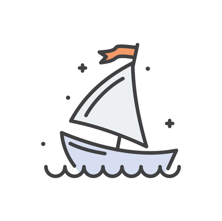 Boat line icon on white background for graphic and web design, Modern simple vector sign. Internet concept. Trendy symbol for website design web button or mobile app